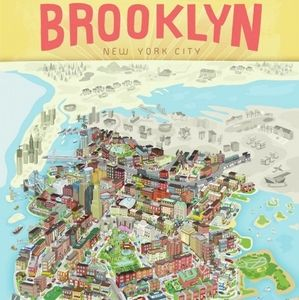 Brooklyn NYC paper poster
